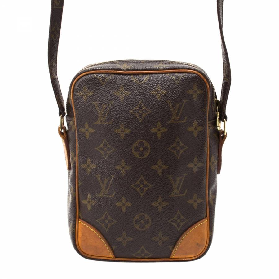 20c5893ad099 Brown Leather Monogram Amazon Cross Body Bag - BrandAlley