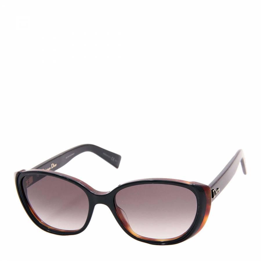 35975fa169 Christian Dior Women s Black Havana Cat s Eye Sunglasses
