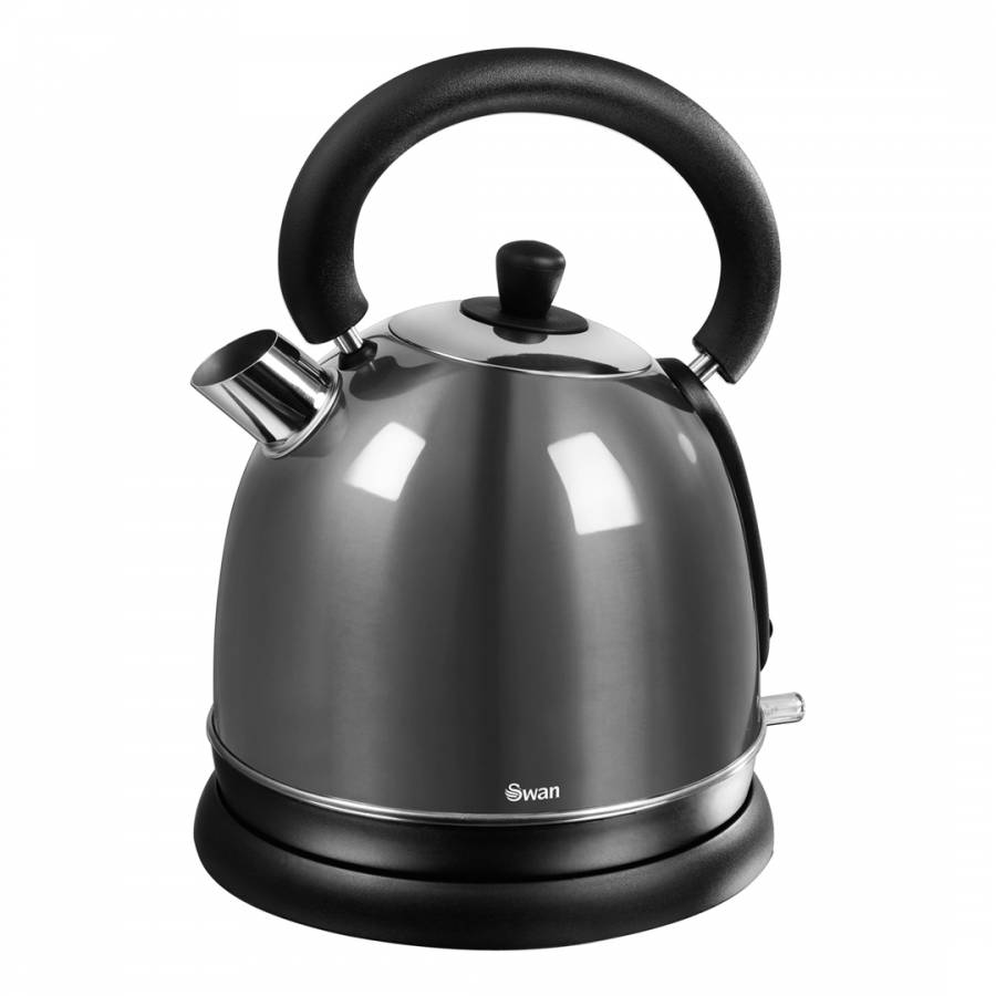 1.8 litre grey dome kettle , grey, Swan