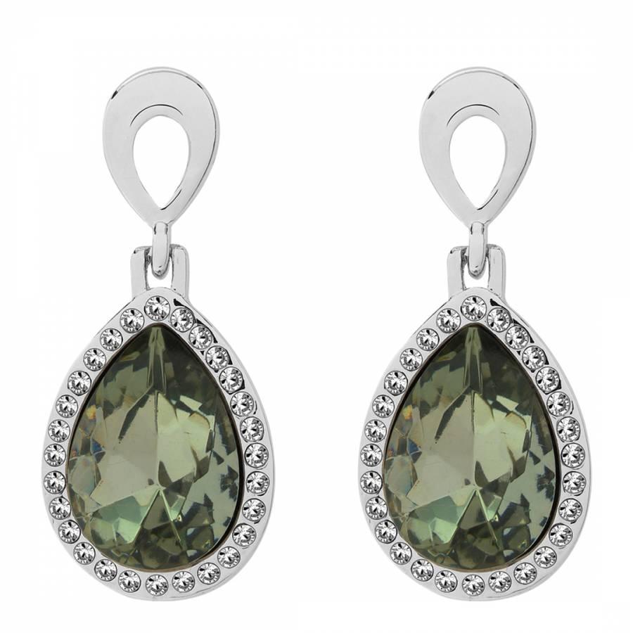 6cf3bd586 Saint Francis Crystals Silver/Dark Grey Swarovski Elements Crystal Earrings