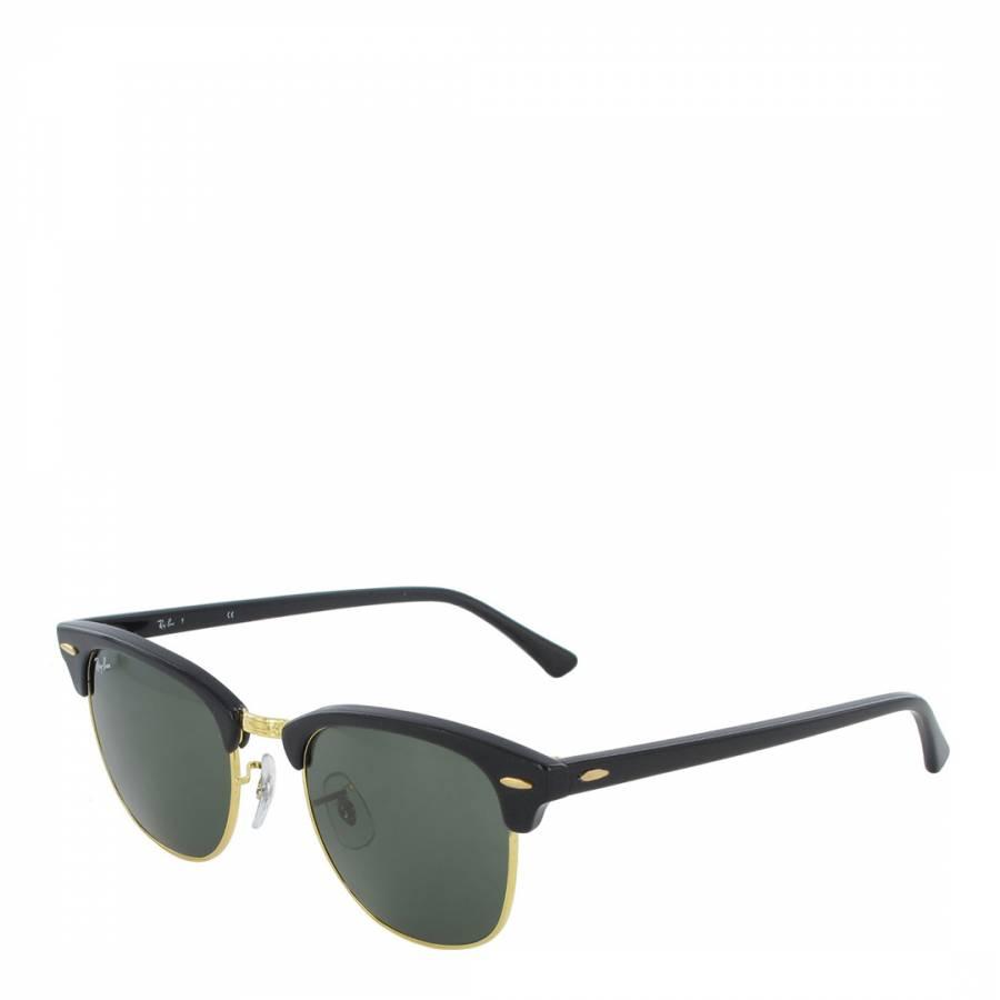 7f8e7324d09a Unisex Black/Gold Clubmaster Sunglasses 49mm - BrandAlley