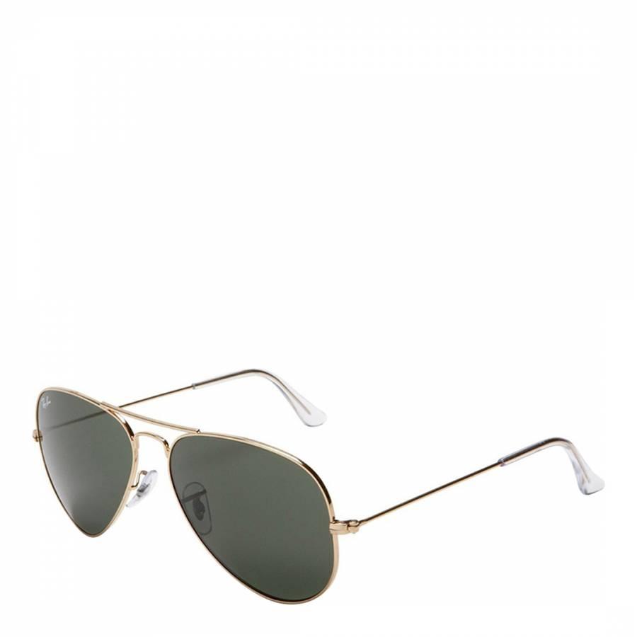 31dd9043ba7 Unisex Gold Aviator Classic Sunglasses 62mm - BrandAlley