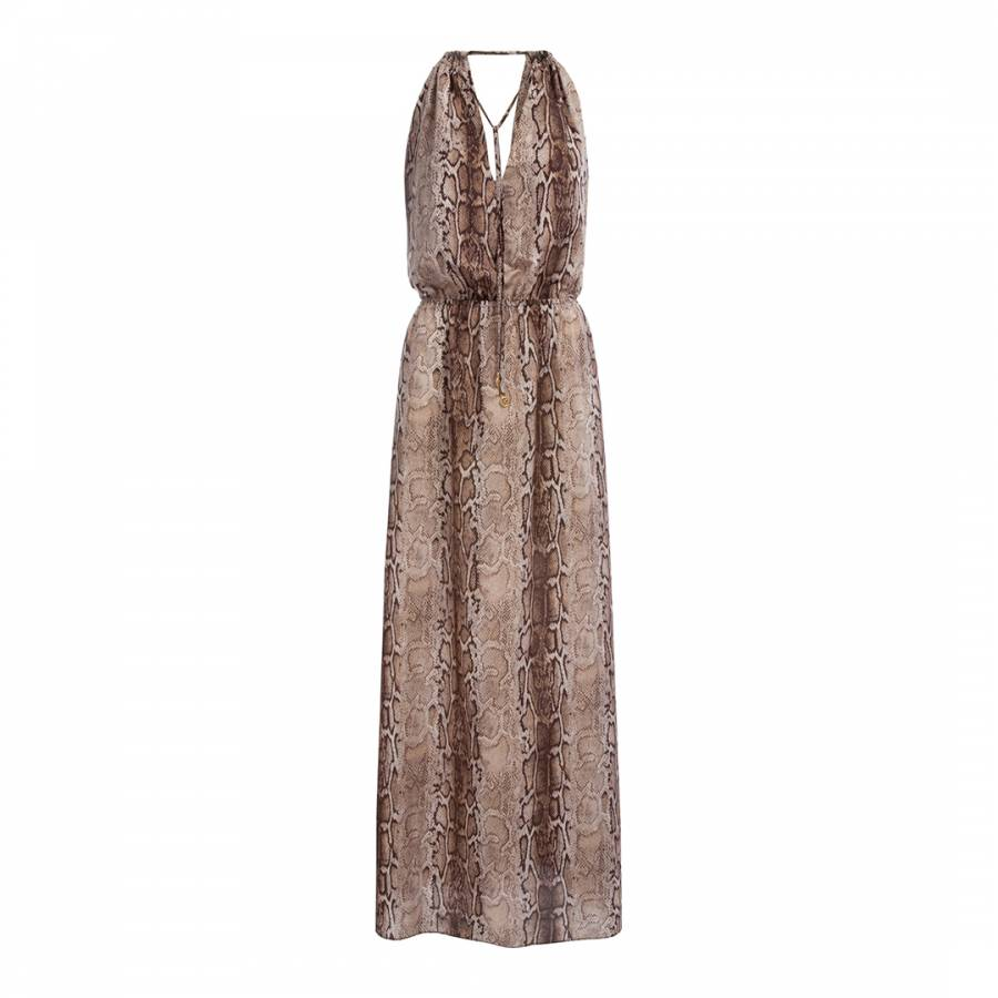 eebd84904a Melissa Odabash Brown/Cream Chloe Snakeskin Print Maxi Dress