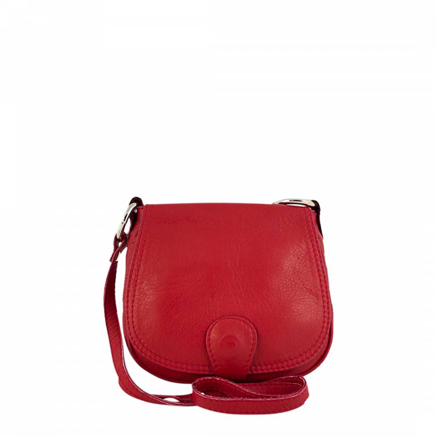 1dd4d1e71e3b Red Leather Sibilla Cross Body Bag - BrandAlley