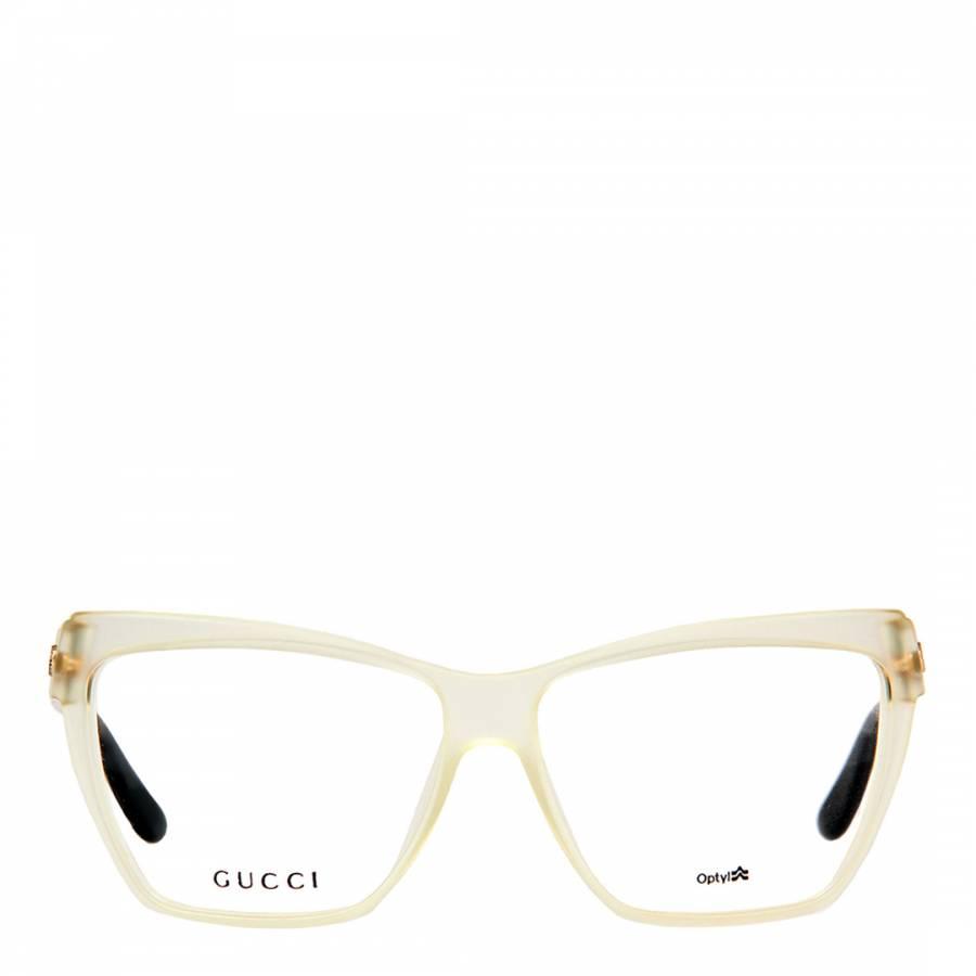 4adf86bb1 Gucci Women s White Black Rectangle Optical Glasses. prev. next. Zoom