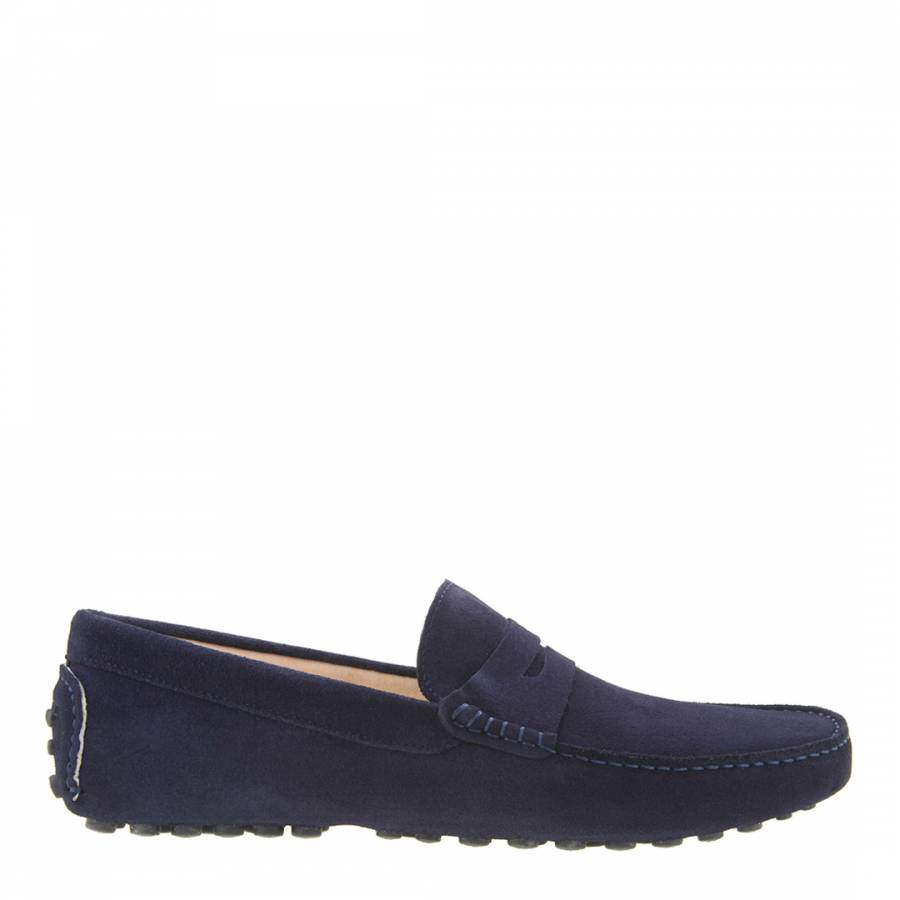 3f2f0845559 Men's Navy Suede Driving Loafers