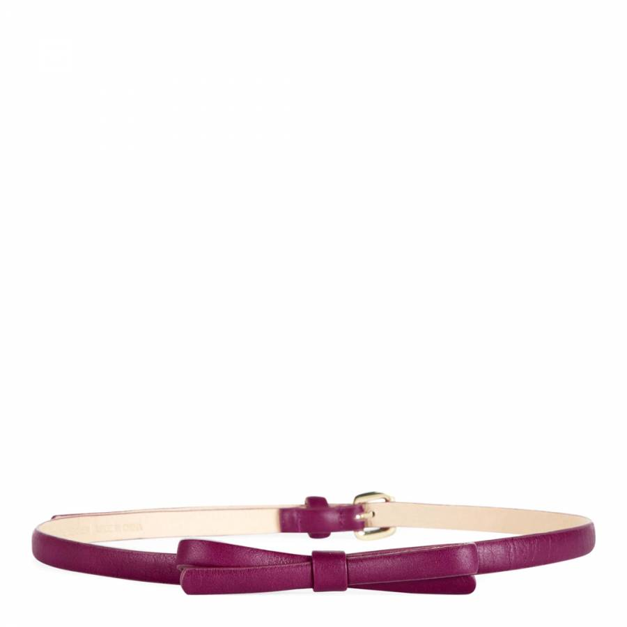 f266be205 Purple Skinny Leather Bow Belt - BrandAlley
