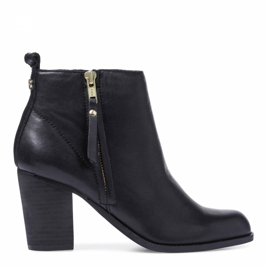 dbbd738f68f6 Black Leather Tanga Ankle Boots - BrandAlley