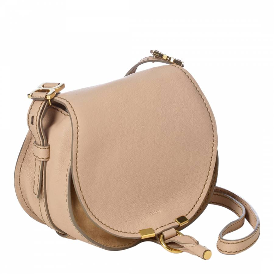 6f8a20c5e015 Nude/Beige Leather Small Marcie Shoulder Bag - BrandAlley