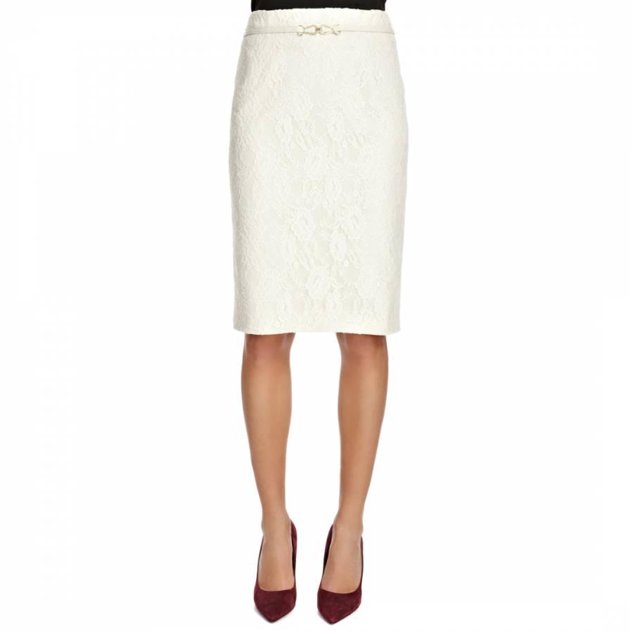 Looks - Pencil lace skirt cream video