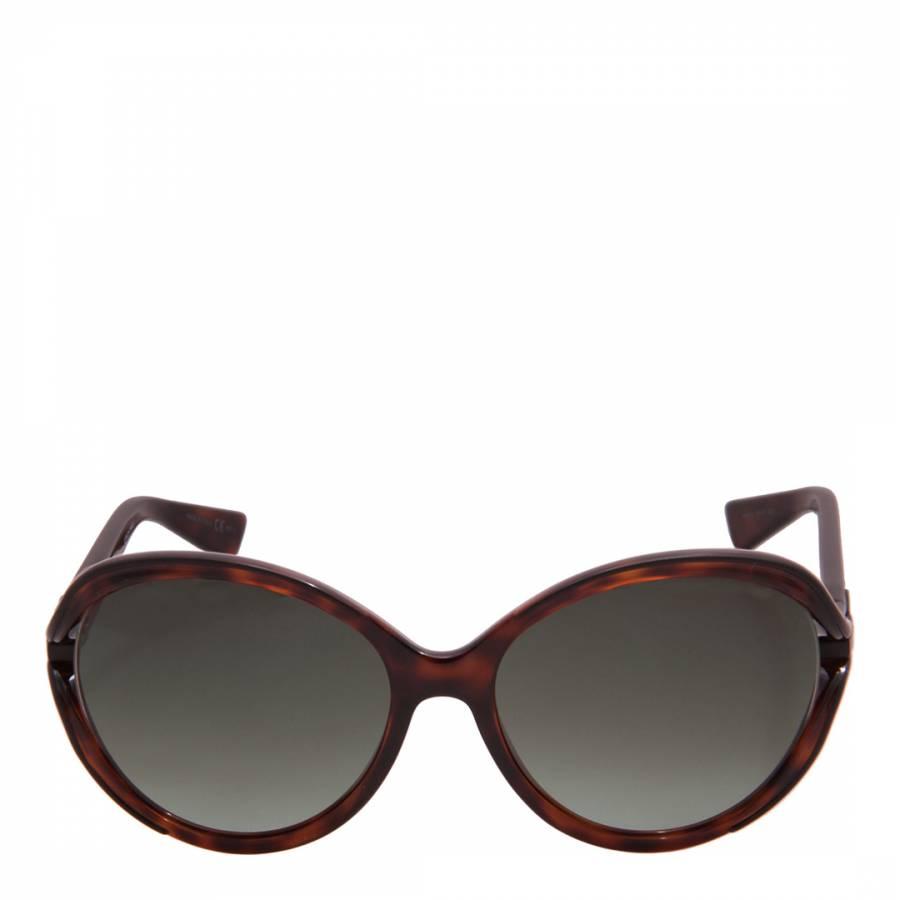 26da0cbbca89 Christian Dior Women s Brown Havana Butterfly Sunglasses