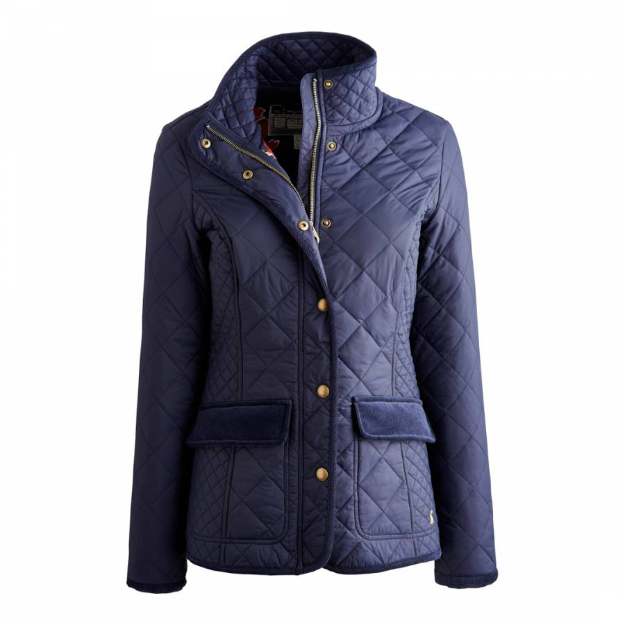 Womens Navy Quilted Jacket Brandalley