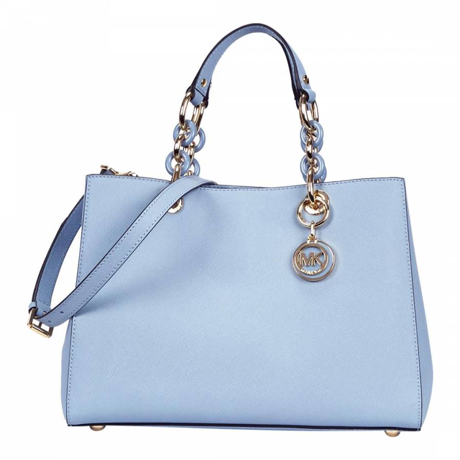 cfcc1e6ba299 Michael Kors Pale Blue Leather Cynthia Tote Bag