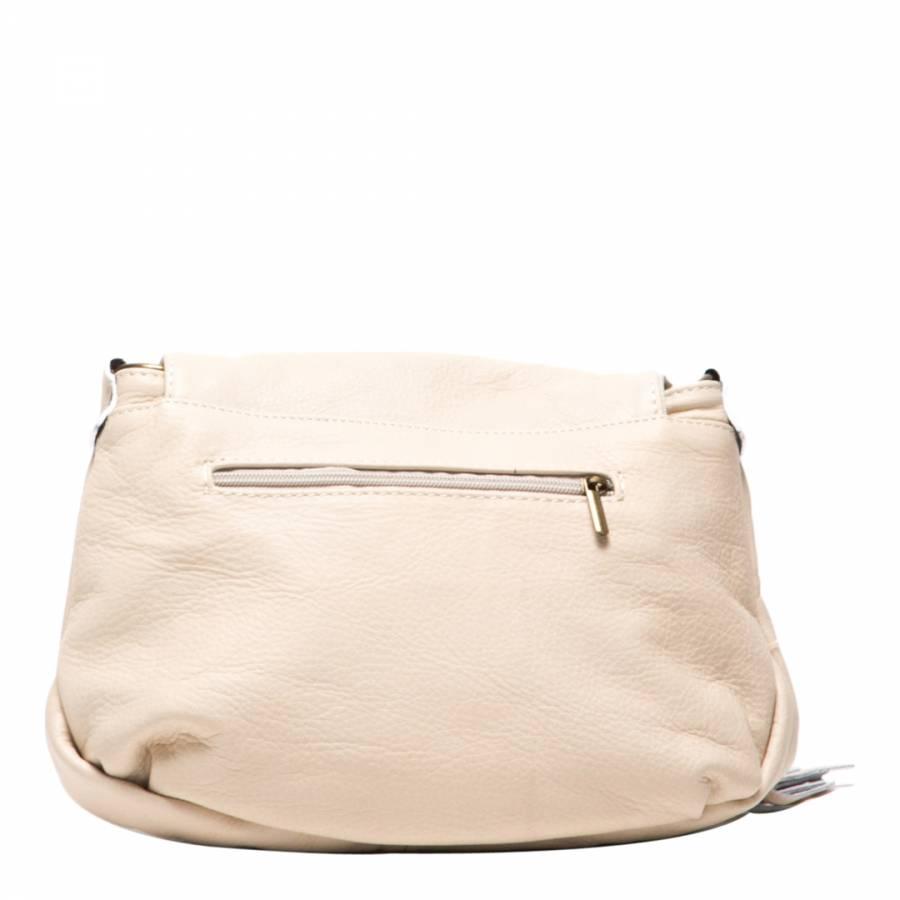 25f9a6e80d Beige Leather Cross Body Bag - BrandAlley