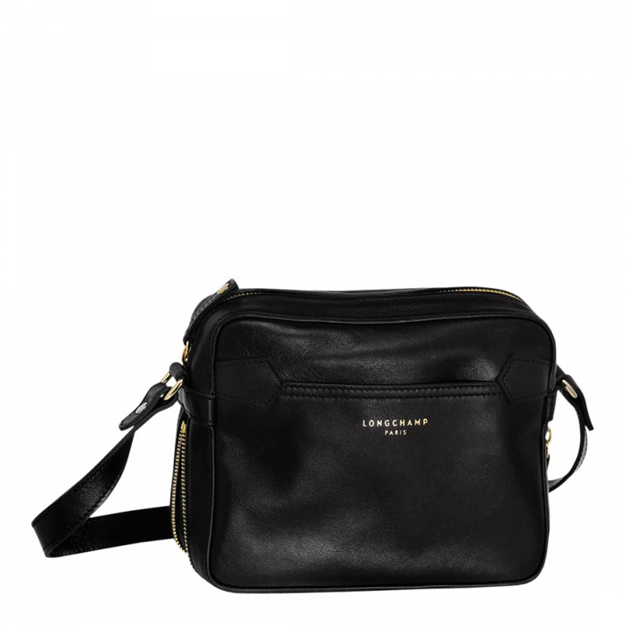 f9b4920ca135 Black Leather Longchamp 2.0 Cross Body Bag - BrandAlley