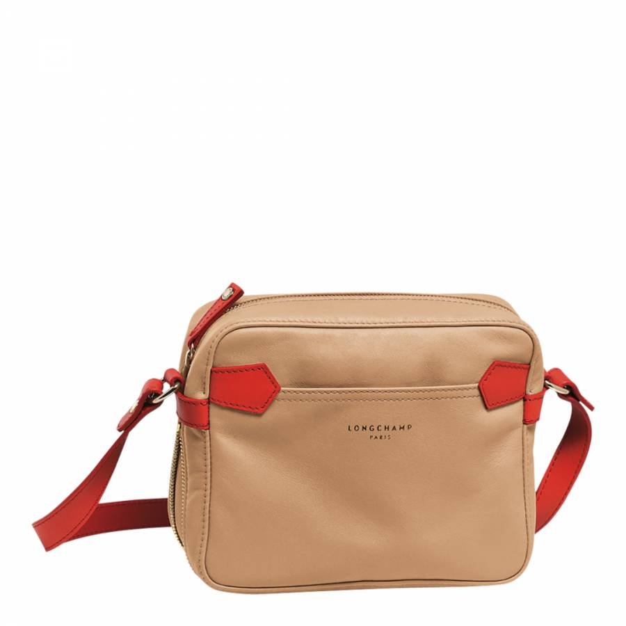 9817b70caec8 Beige Coral Leather Longchamp 2.0 Cross Body Bag - BrandAlley
