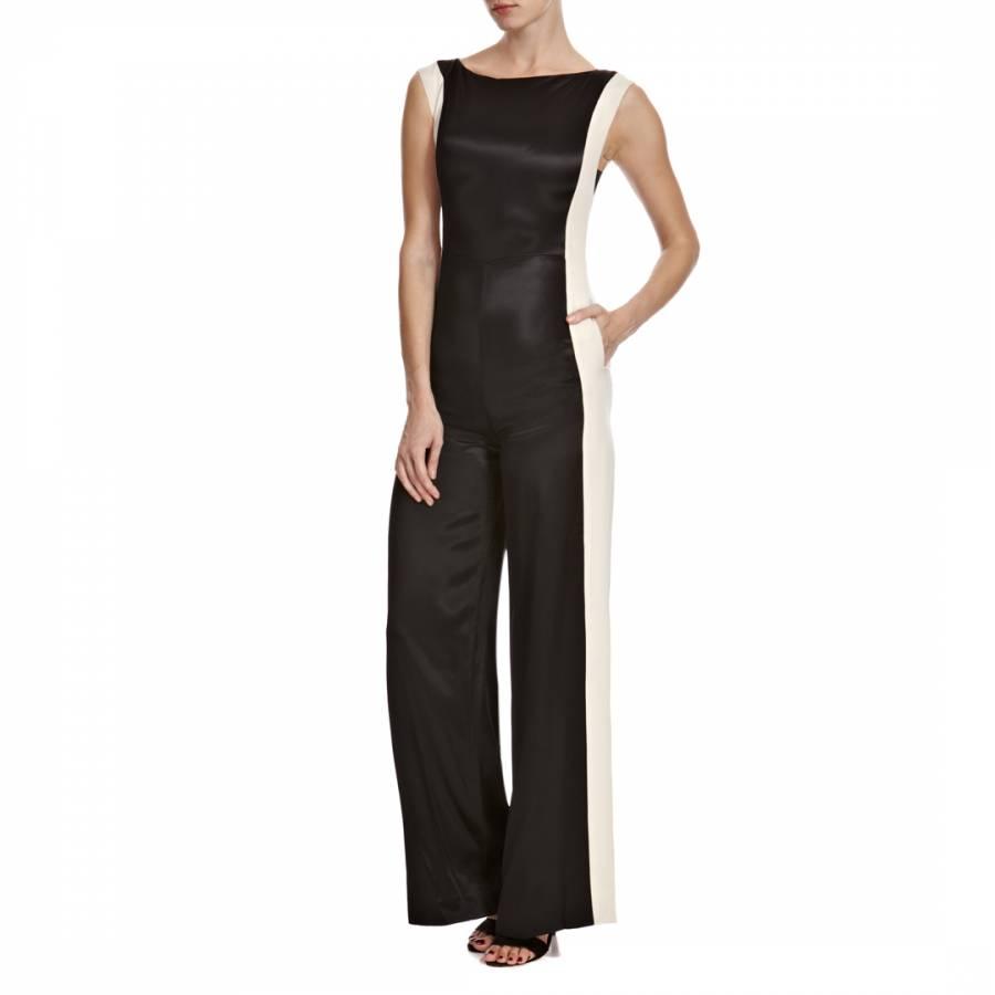 a1e73700bb Temperley London Oyster Black Mariella Silk Blend Jumpsuit
