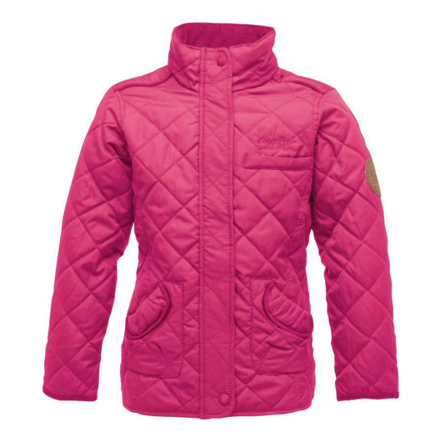 Ladies Size 12-18 New Pink Quilted Jacket Coat Zip Poppers Corduroy Collar