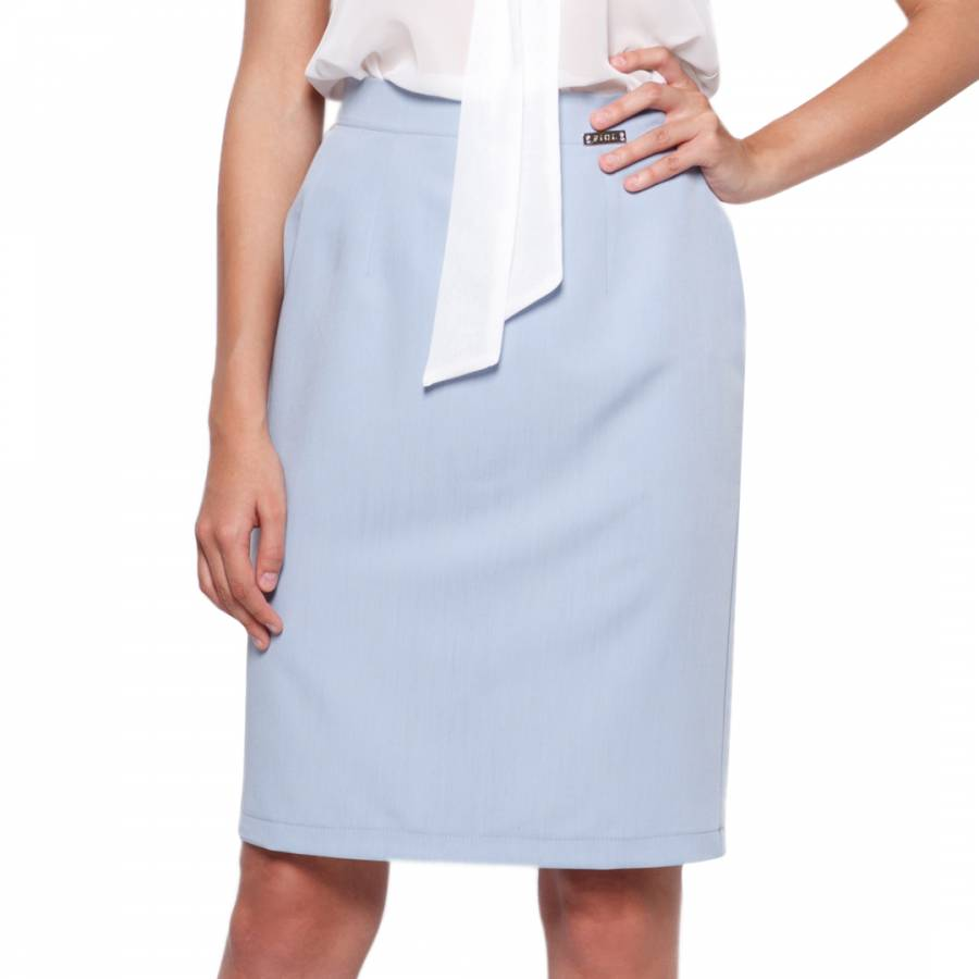 b5e23c1bc Pale Blue Midi Pencil Skirt - BrandAlley
