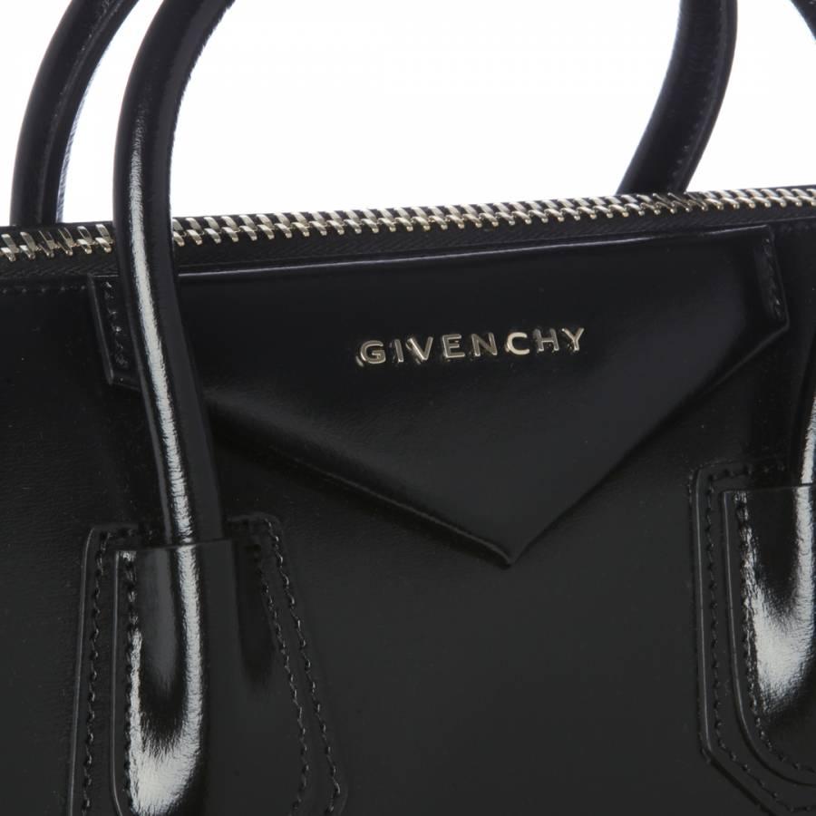 671cd55f4b55 Black Leather Antigona Medium Tote Bag - BrandAlley