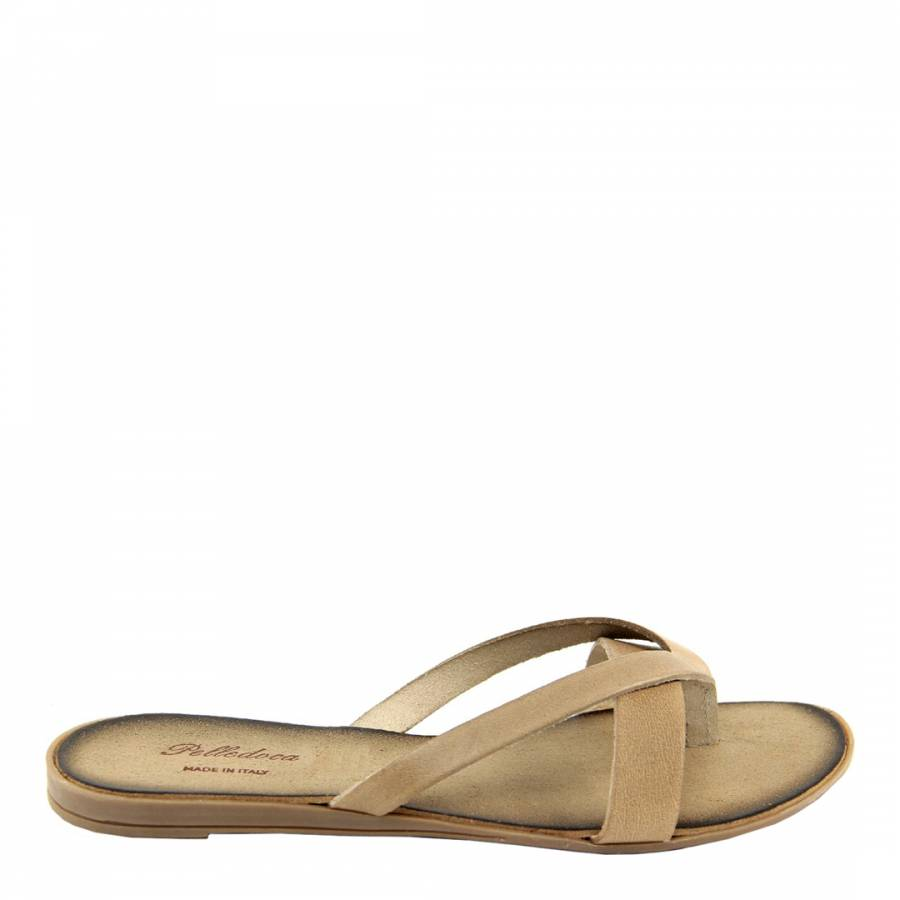 a9399e58d Zoom · Pelladoca Pale Stone Leather Crossed Band Mules