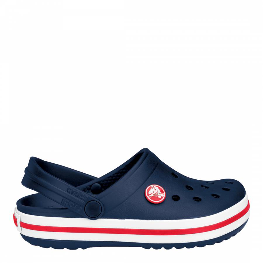 9554396387 Crocs Kid s Navy White Crocband Classic Shoes. prev. next. Zoom