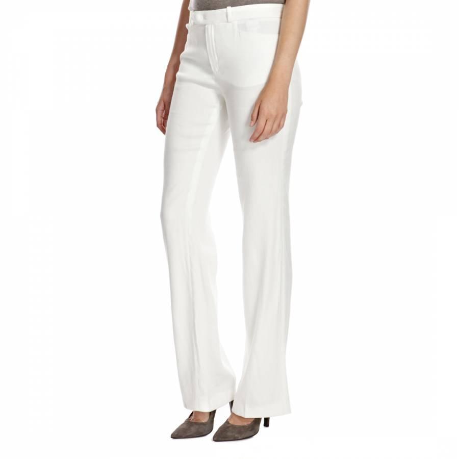 47f455db51 White Rocker Wide Leg Stretch Linen Blend Trousers - BrandAlley