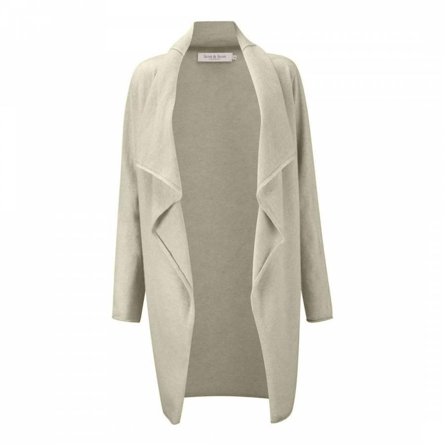 Clarissa Waterfall Long Maxi Shawl Cardigan Dress Light Grey 8 16