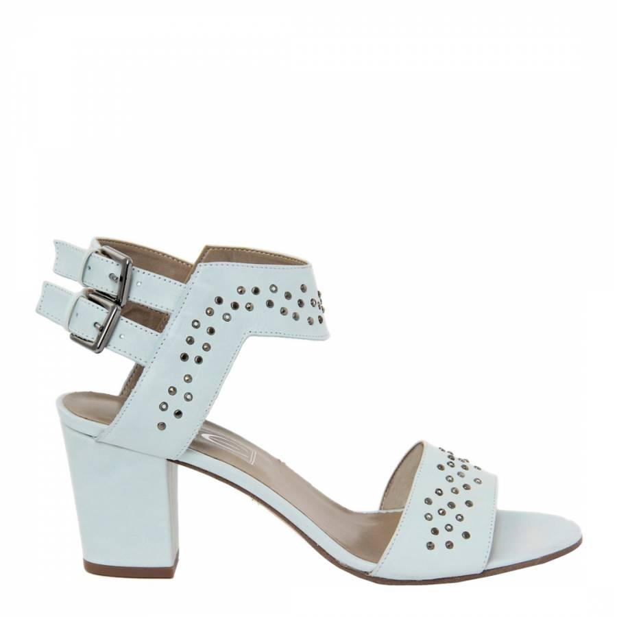 6109e2fc16ba Pale Blue Leather Studded Sandals Heel 7.5cm - BrandAlley