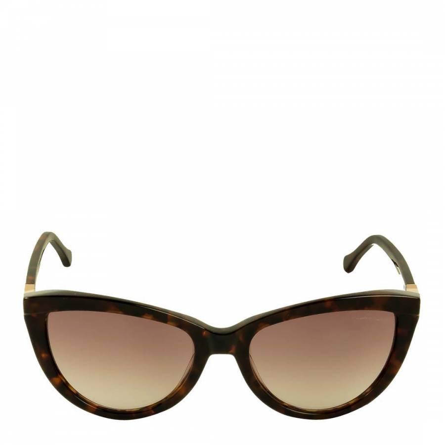 cd52cde130d7 Roberto Cavalli Women s Dark Brown Tortoiseshell Cat s Eye Sunglasses