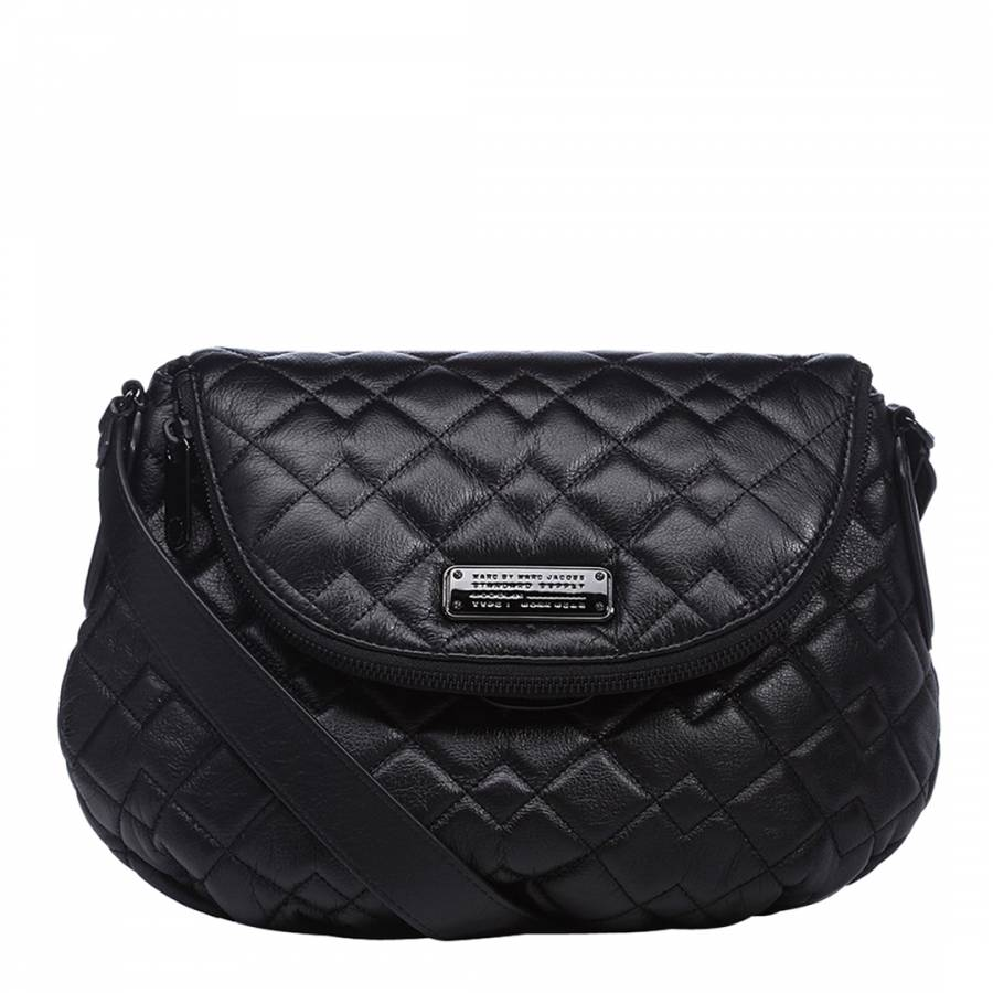 Black Leather Natasha Quilted Cross Body Bag - BrandAlley 3a56b5b5cce4f