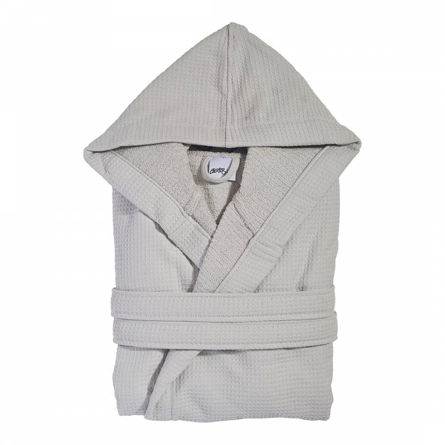 Grey Waffle Cotton Dressing Gown Lxl Brandalley