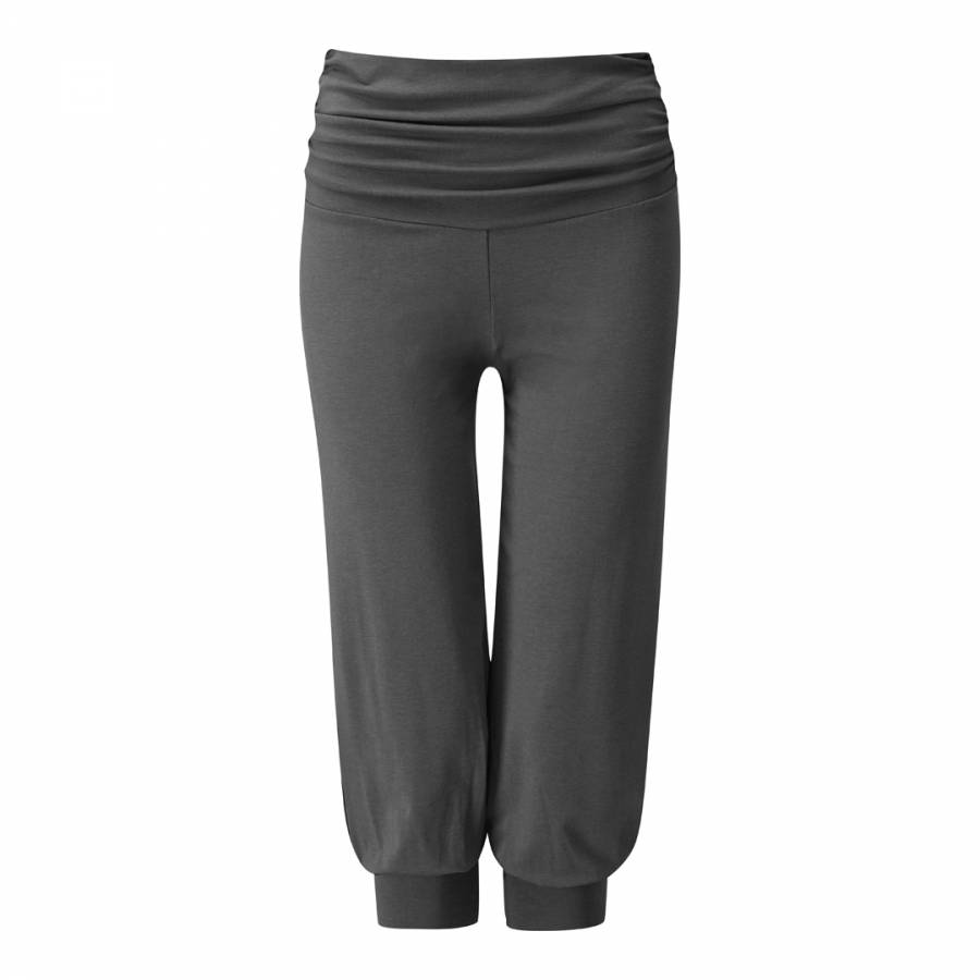 Three Quarter Length Gathered Yoga Pants