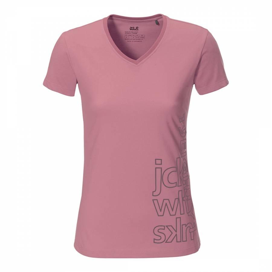 e72c706d4768 Jack Wolfskin Rose Canberra V Neck T Shirt