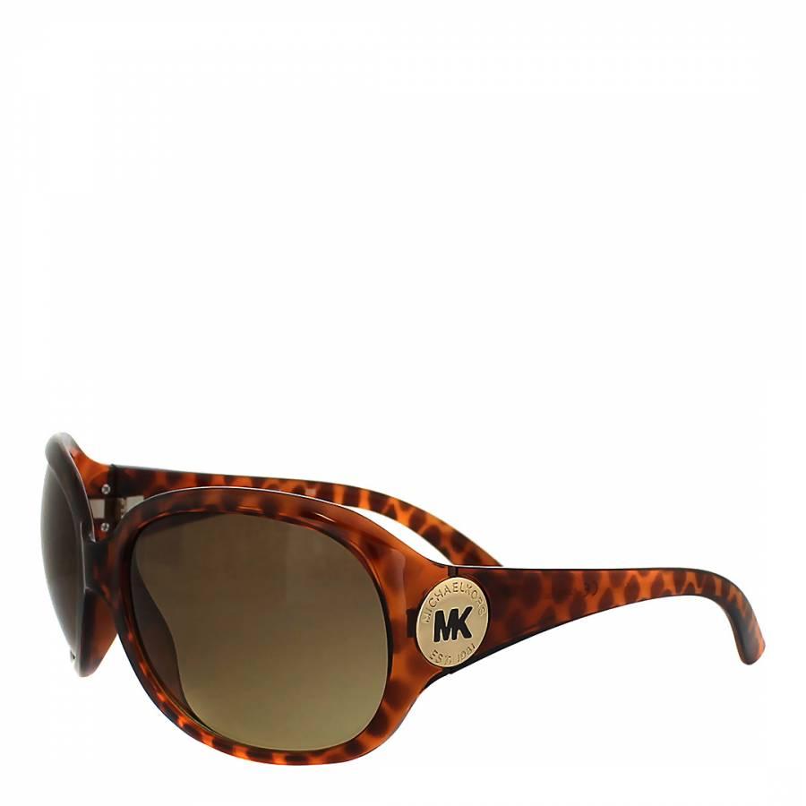 ac99184546245 Michael Kors Women s Brown Gold Tortoiseshell Oversized Sunglasses. prev.  next. Zoom