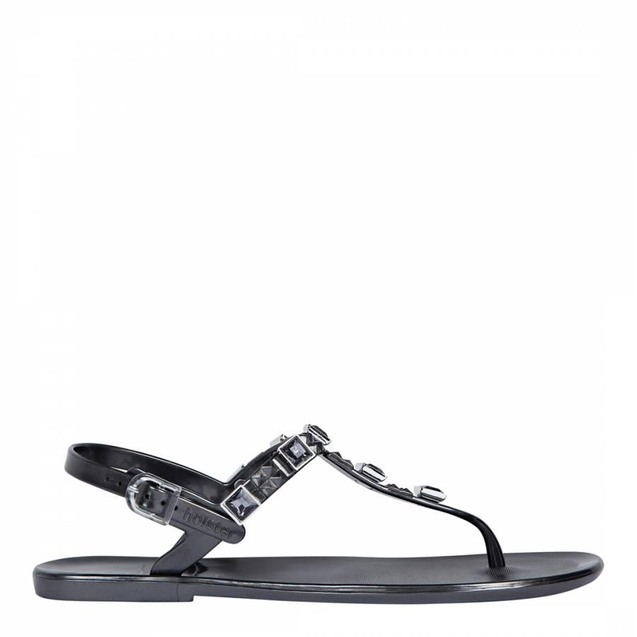 a47c5f344 Holster Australia Dark Grey Rockstar Jelly Sandals