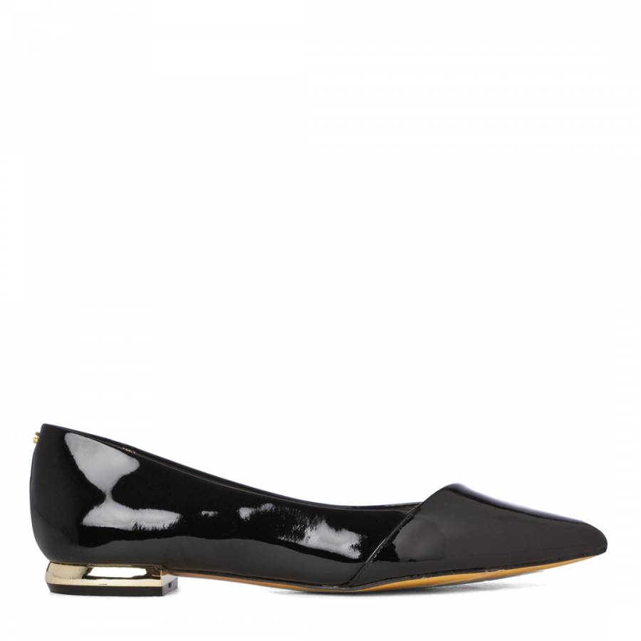 e0b3f5f3c Black Patent Leather Pasces Pointed Toe Pumps - BrandAlley