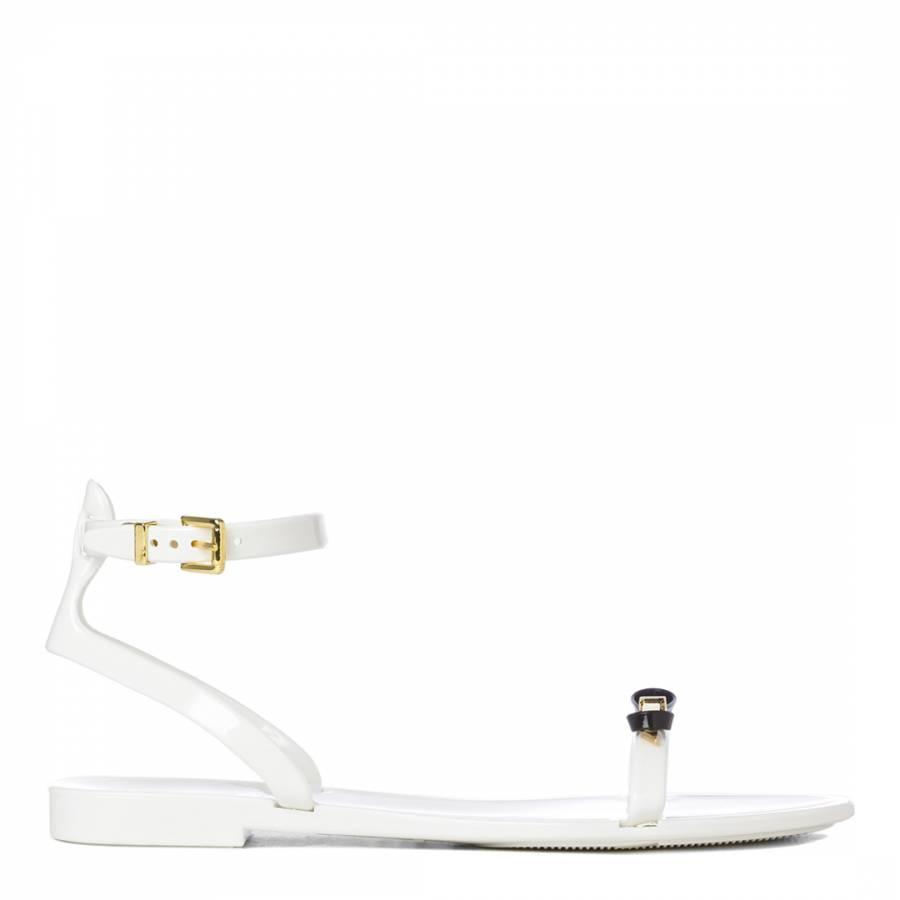 a77418c3cac3d Cream Black Lavayndar Bow Sandals - BrandAlley