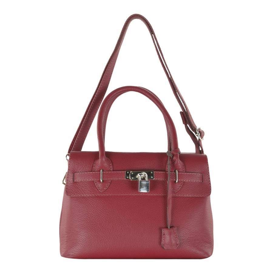 0170310f7f87 Carla Belotti Red Leather Jen Belted Shoulder Bag