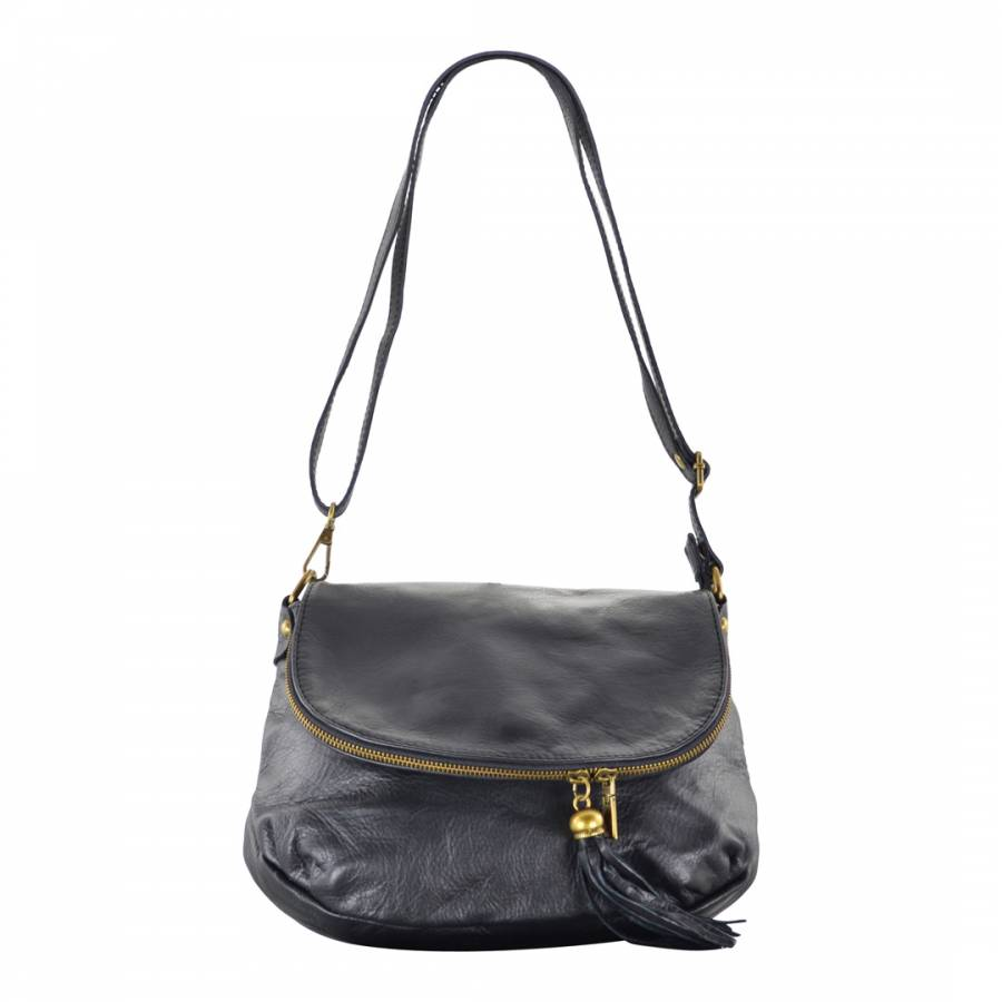 Carla Belotti Black Leather Celine Shoulder Bag 0376768cc3001