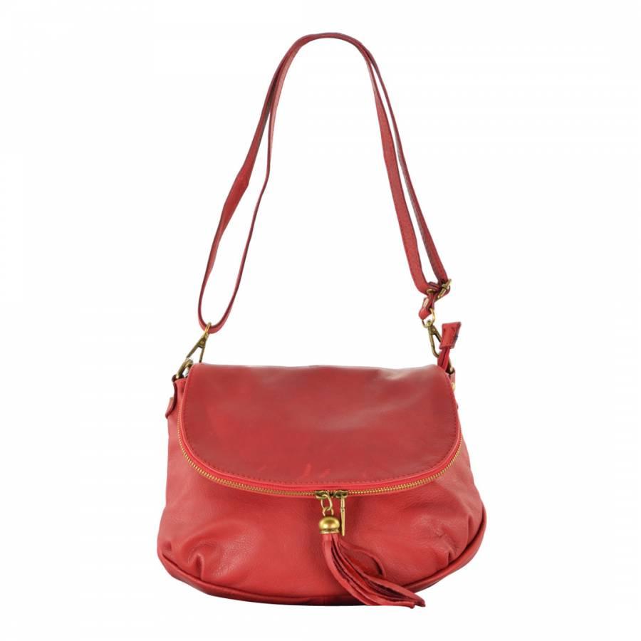 Carla Belotti Red Leather Celine Shoulder Bag c39fbb55a3c44