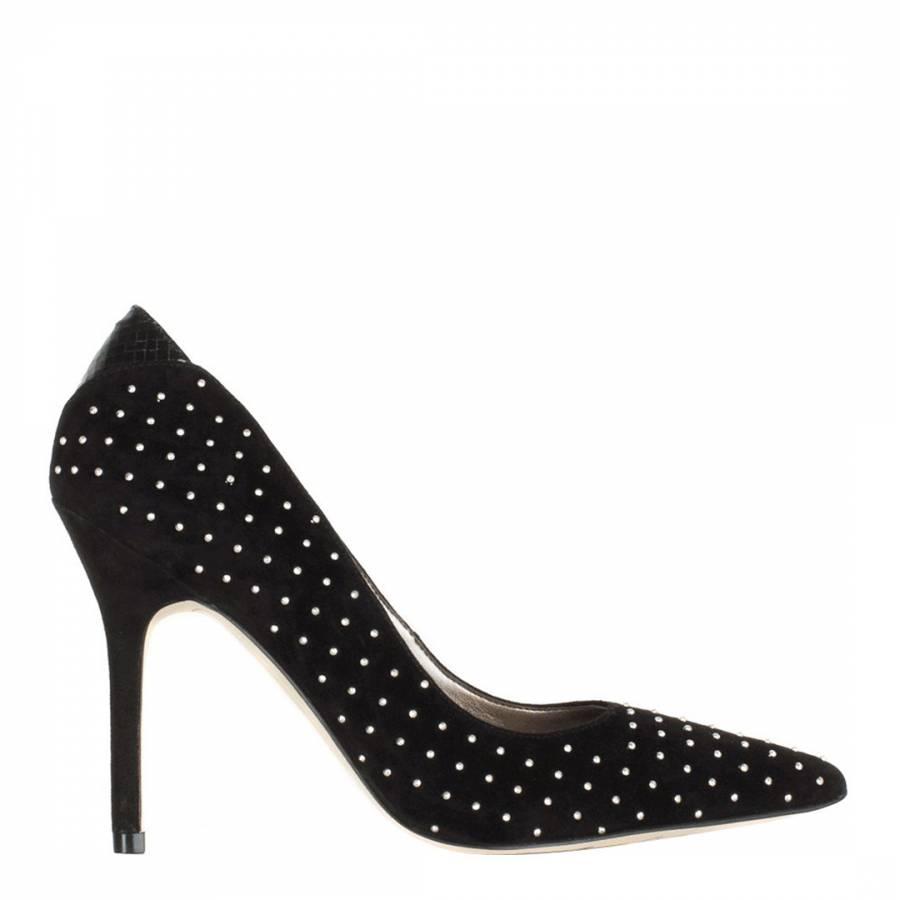 a9d5735eaf134 Sam Edelman Black Suede Dean Studded Court Shoes Heel 9.5cm. prev. next.  Zoom