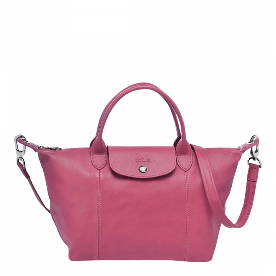 Longchamp Pink Leather Le Pliage Cuir Handbag. prev. next. Zoom 527468744bc59