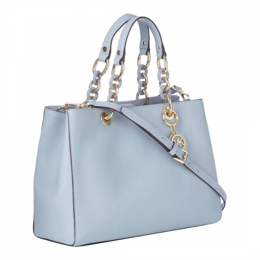 0fa8e99df732 Michael Kors Pale Blue Leather Cynthia Handbag