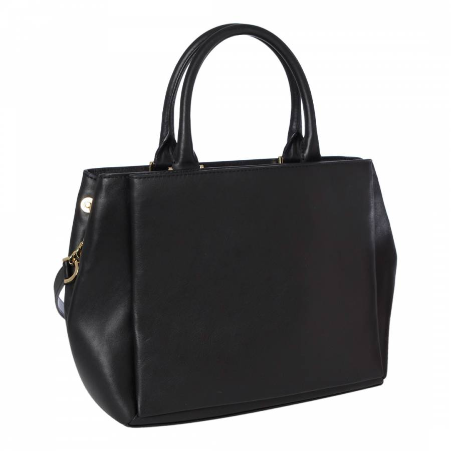 d943c0d16ed0 ... Black Leather Karlie Handbag - BrandAlley Isabella Fiore Bags ...