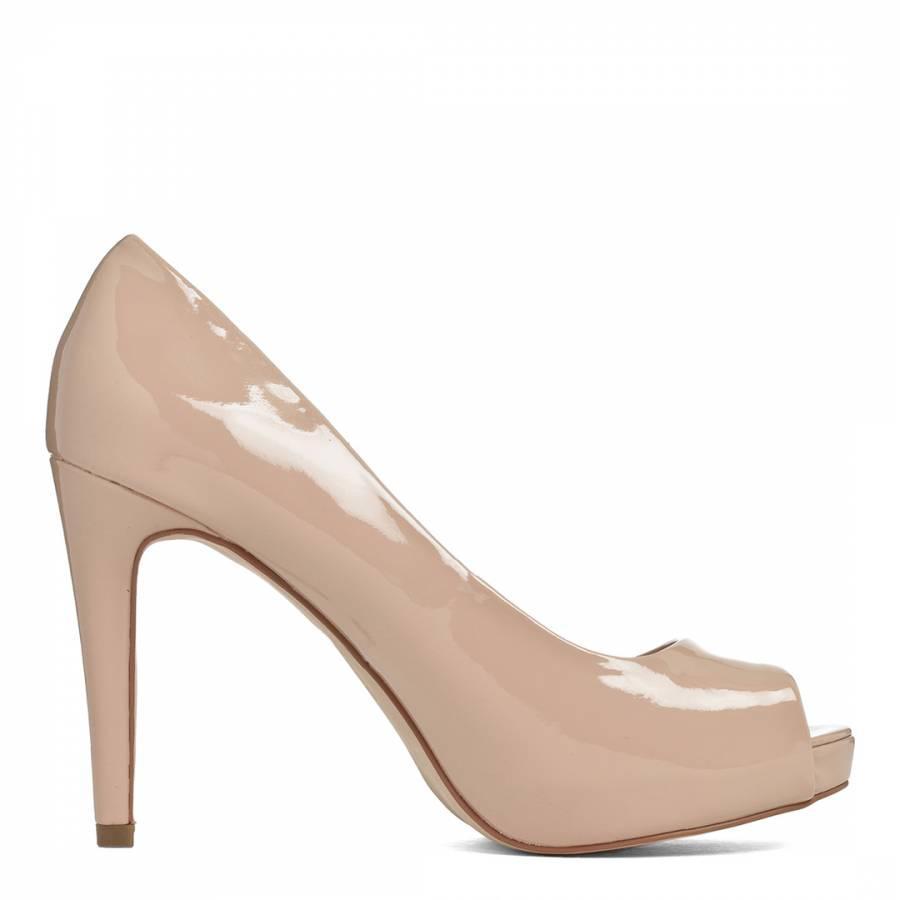 d7c6e2d36 Carvela Kurt Geiger Nude Lara Patent Court Shoes Heel 9.5cm