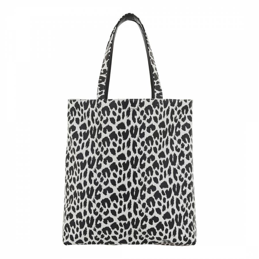 93e47121c3e Paul s Boutique Black White Amelie Graphic Leopard Print Reversible Tote Bag