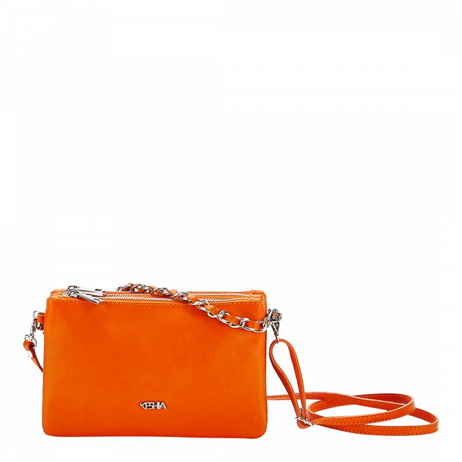 046ed61813 Zoom · Keshia Orange Leather Cross Body Bag