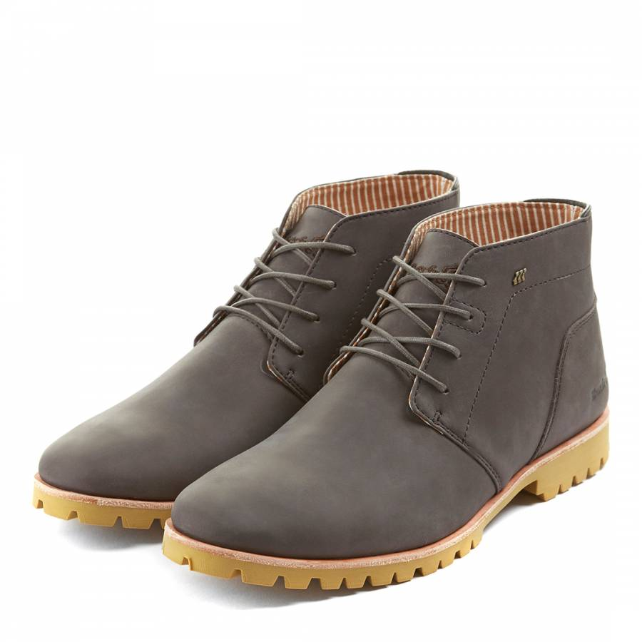 d1ff4711913 Boxfresh Charcoal Leather Chuck Casual Boots