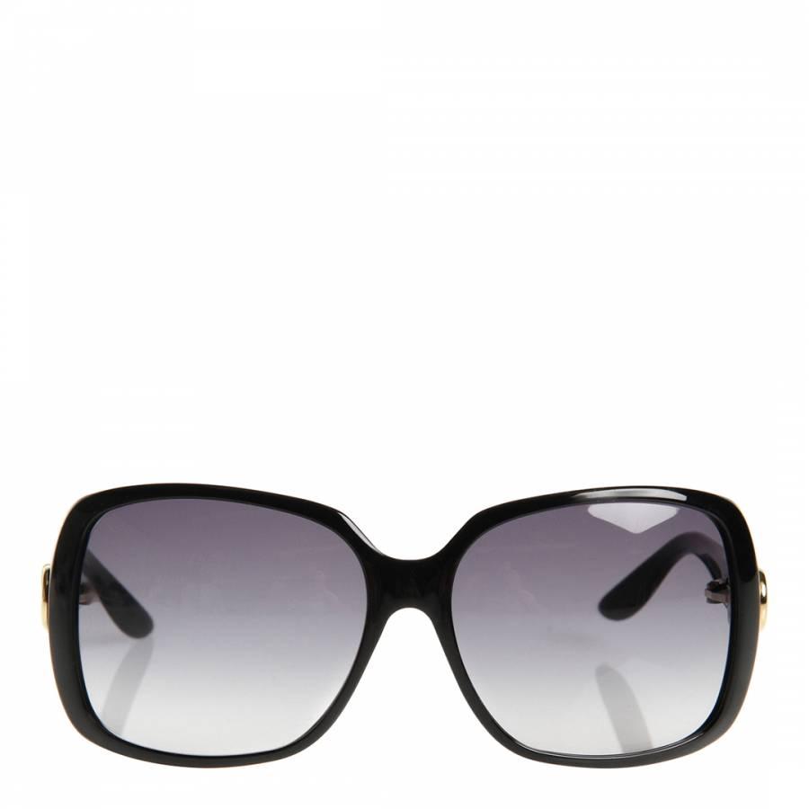 853bc757cfc Women s Shiny Black Grey Oversize Contrast Sunglasses - BrandAlley